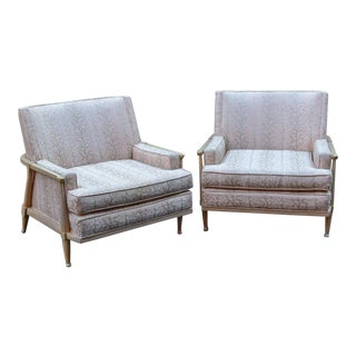 Vintage Mid Century Club Chairs- A Pair For Sale