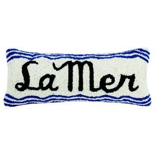 La Mer Hooked Wool Pillow