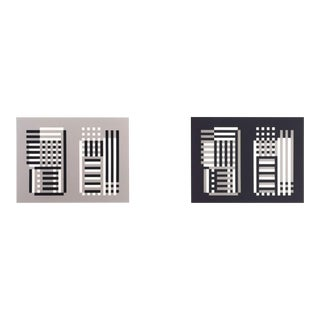 1970s Mid-Century Modern Josef Albers Diptych Screen Print, Portfolio II No. 11 For Sale