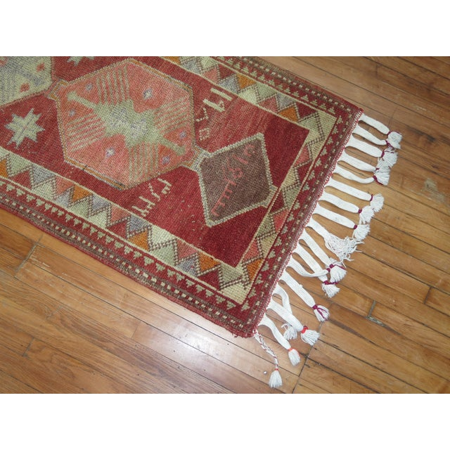 Vintage Anatolian Geometric Runner - 2'9'' x 14' For Sale In New York - Image 6 of 8