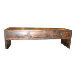 Asian 3-Drawer Coffee Table For Sale