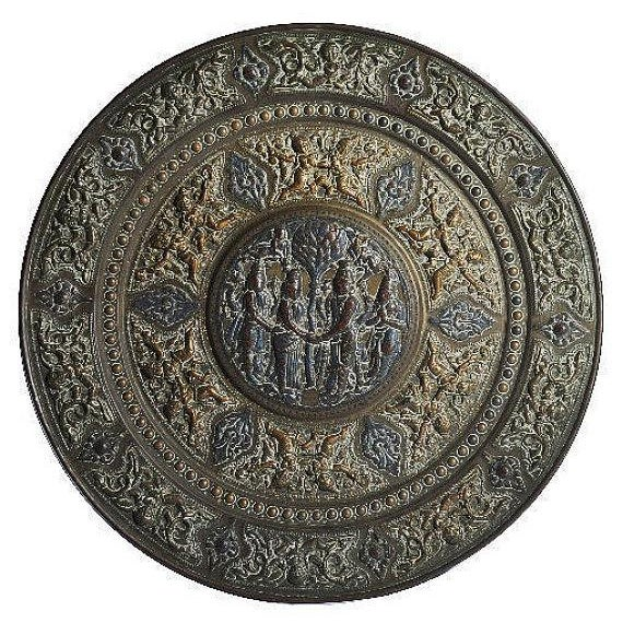 19th Century Tanjore Brass Plaque #1, South India For Sale - Image 10 of 10