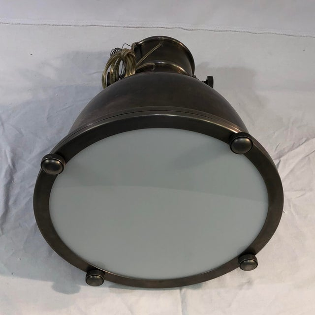 Visual Comfort E. F. Chapman Country Industrial Pendant Ceiling Light For Sale - Image 12 of 13