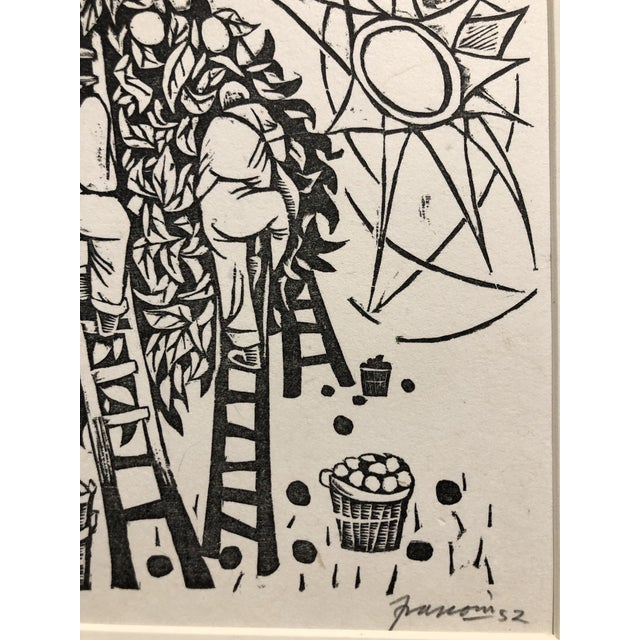 """1952 Woodcut """"Day and Night"""" Antonio Frasconi For Sale In New York - Image 6 of 7"""