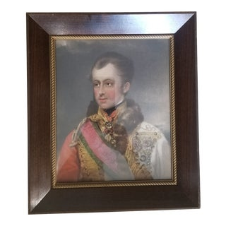 Final Markdown Vintage Mahogany and Brass Picture Frame For Sale