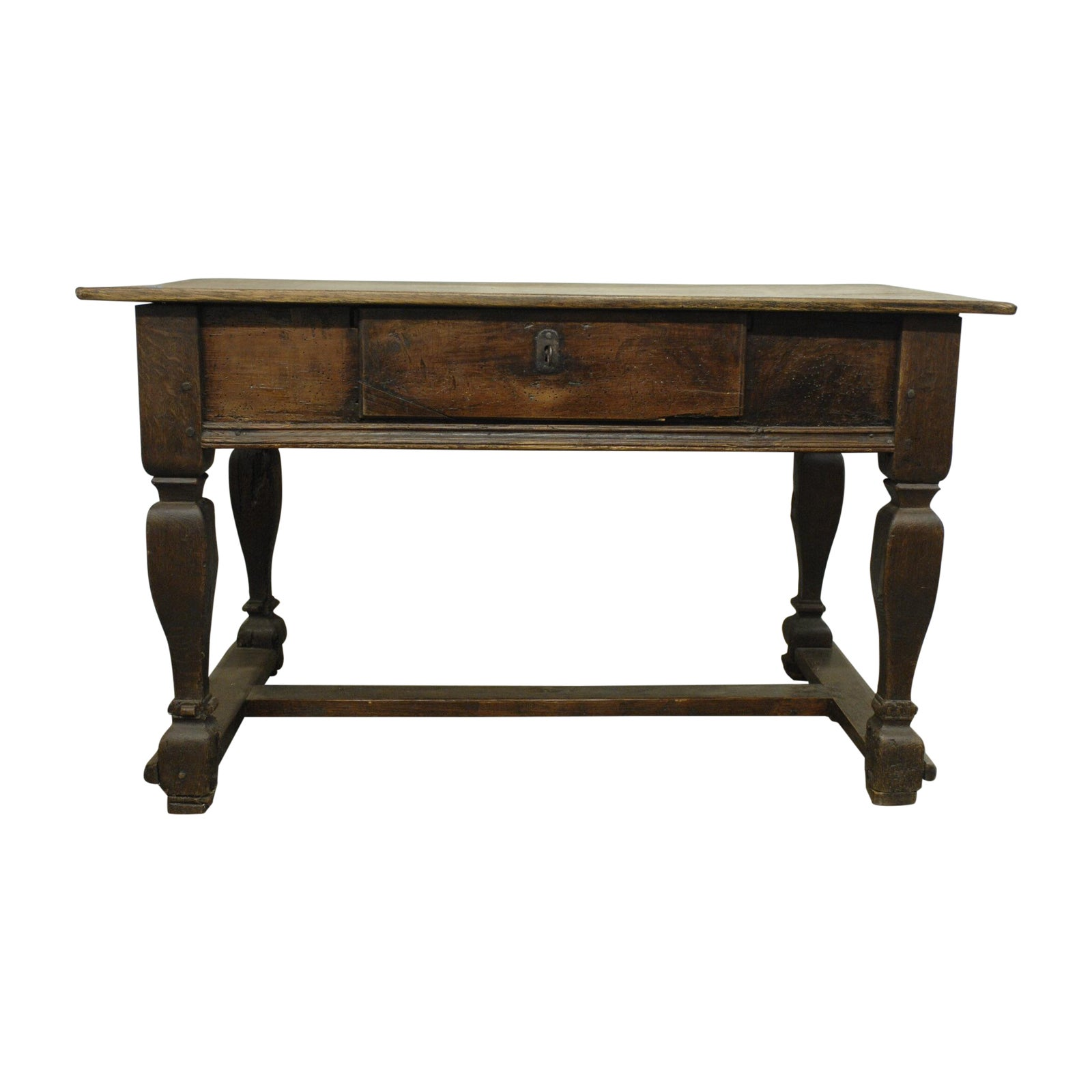 Do It Yourself Home Design: Antique Wood Desk With Lock And Hidden Drawers