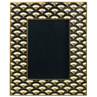 Contemporary Shagreen Gold-Plated Photo Frame by Fabio Ltd For Sale
