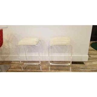 1970s Hollywood Regency Acrylic Counter Stools- a Pair Preview