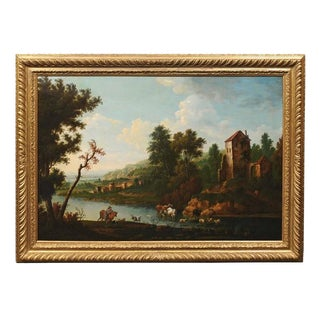 Early 19th Century English Oil Painting of the Italian Countryside