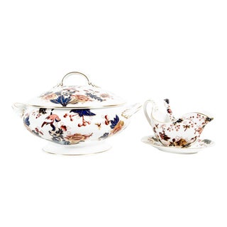 English Porcelain Tureen Set of 4 For Sale