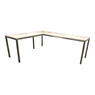 Room & Board White Quartz Parsons Desk