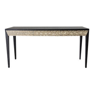 Modern Leather and Snake Skin Console Table by Fabio Ltd For Sale