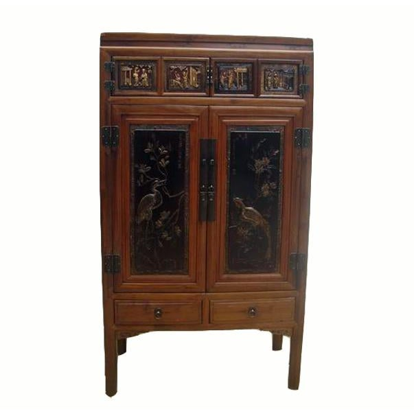 Crane & Phoenix Motif Cabinet For Sale - Image 10 of 10
