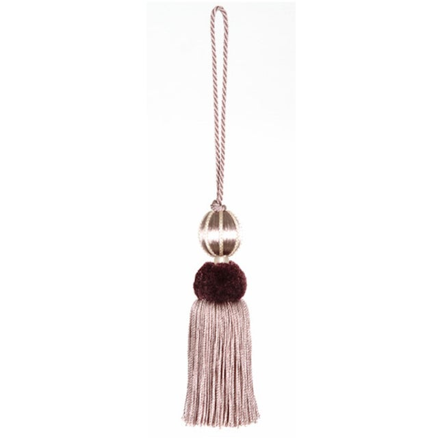 Merrivale Wisteria Beaded Key Tassel - H 4.5 Inches For Sale - Image 4 of 8