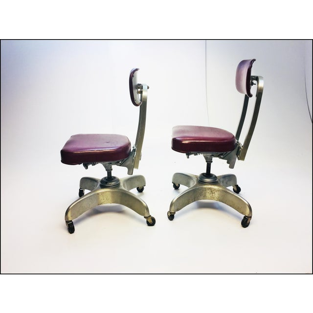 Vintage Industrial Swivel Office Chairs by Emeco - A Pair - Image 2 of 13