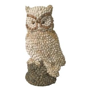 Shell Covered Owl Figurine