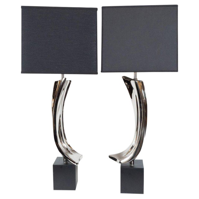 Mid-Century Maurizio Tempestini Brutalist Table Lamps for Laurel Lamp Co. - a Pair For Sale