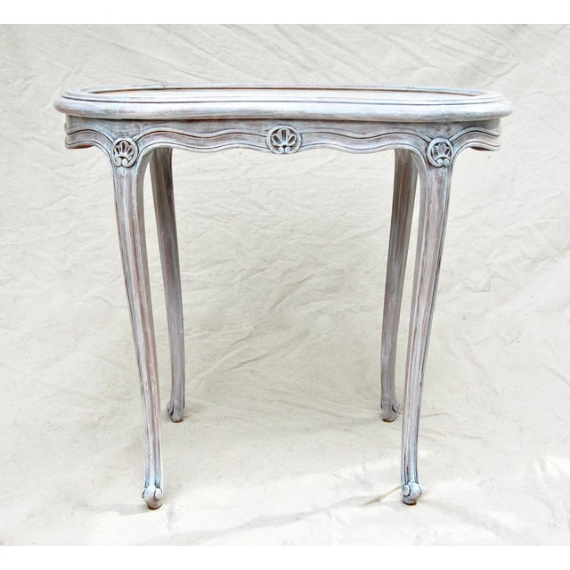French Kidney Shape Marble Top Table For Sale - Image 12 of 12