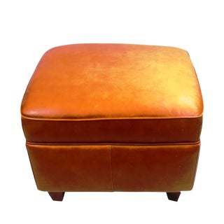Pasargad N Y Hancock and Moore Leather Ottoman