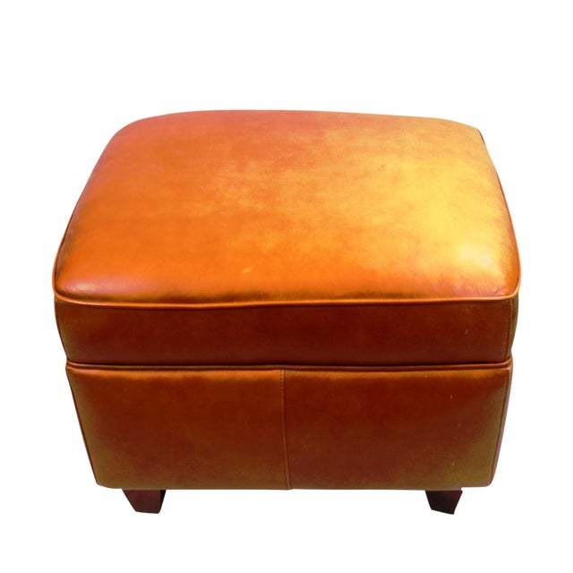 Excellent Pasargad N Y Hancock And Moore Leather Ottoman Gmtry Best Dining Table And Chair Ideas Images Gmtryco