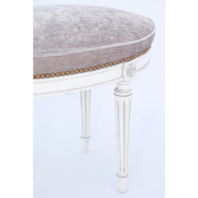 Oval Louis XVI Stool For Sale - Image 4 of 7