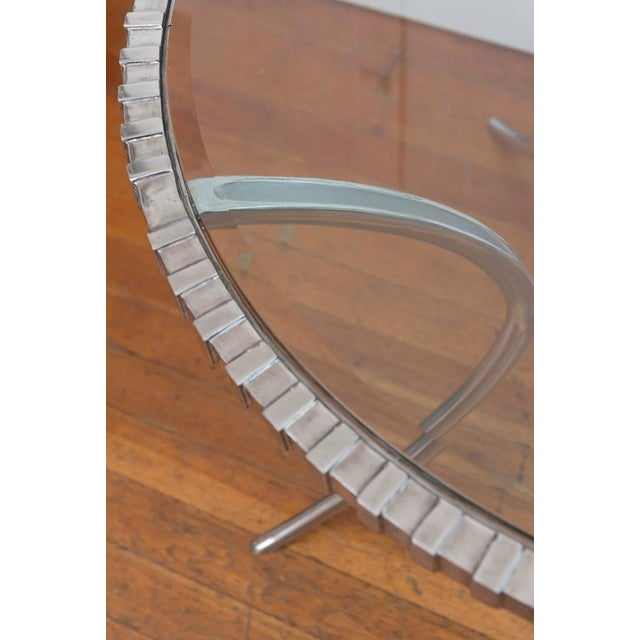 Thinline Polished Aluminum Klismos Table For Sale In San Francisco - Image 6 of 9