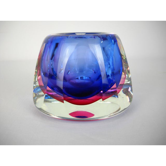 Mid-Century Modern Flavio Poli Faceted Murano Glass Vase For Sale - Image 3 of 10