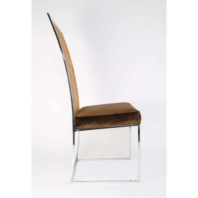 Six High Back Cane Dining Chairs by Milo Baughman for Thayer Coggin For Sale - Image 9 of 11