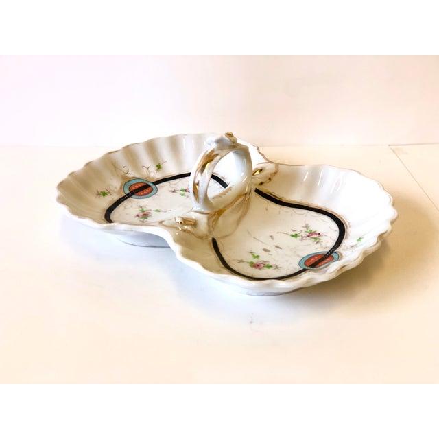 KPM Porcelain Art Deco Kpm Porcelain Double Bowl Serving Dish With Handle For Sale - Image 4 of 12