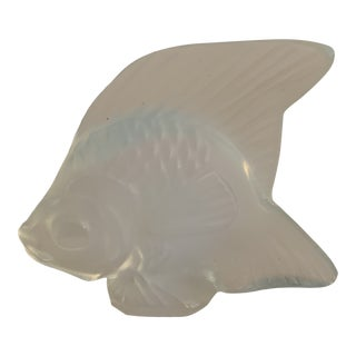 Lalique Opalescent Crystal Fish Figurine For Sale