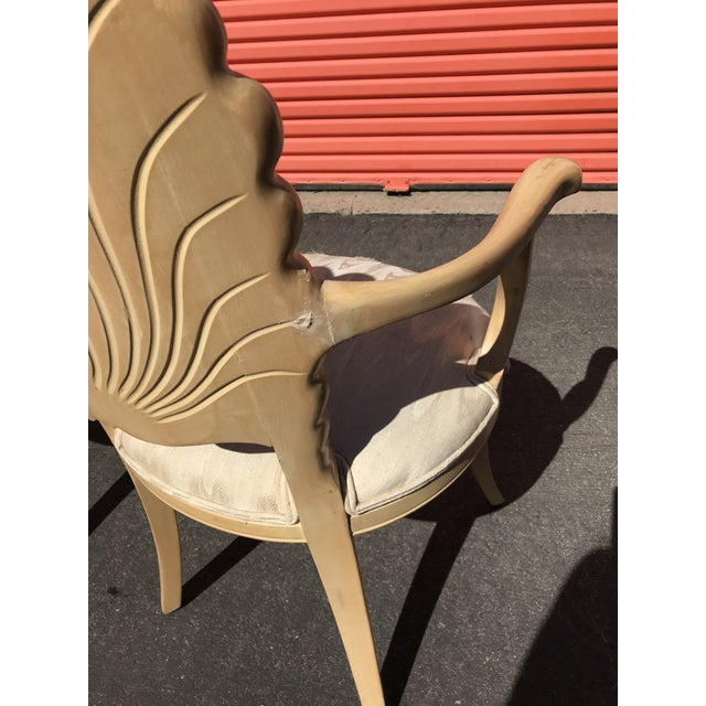 Grotto Italian Carved Wood Seashell Shell Back Dining Chair For Sale - Image 10 of 12