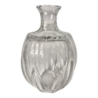 Vintage Cut Crystal Panel Bud Vase For Sale