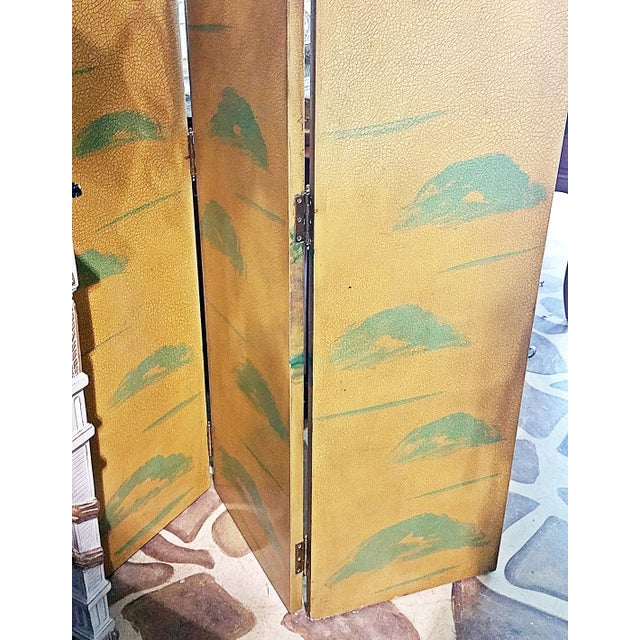 1950s 1950s Vintage Birds Foliage Six Pannel Screen For Sale - Image 5 of 8