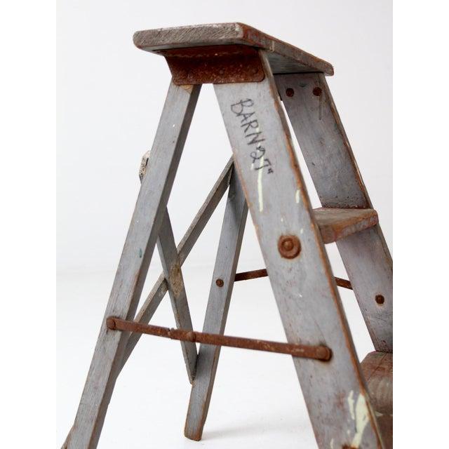 Vintage Wooden Step Ladder For Sale - Image 11 of 12