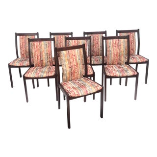 Scandinavian Modern Rosewood Dining Chairs- Set of 8 For Sale