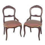 Image of Balloon Back Dining Chairs-A Pair For Sale
