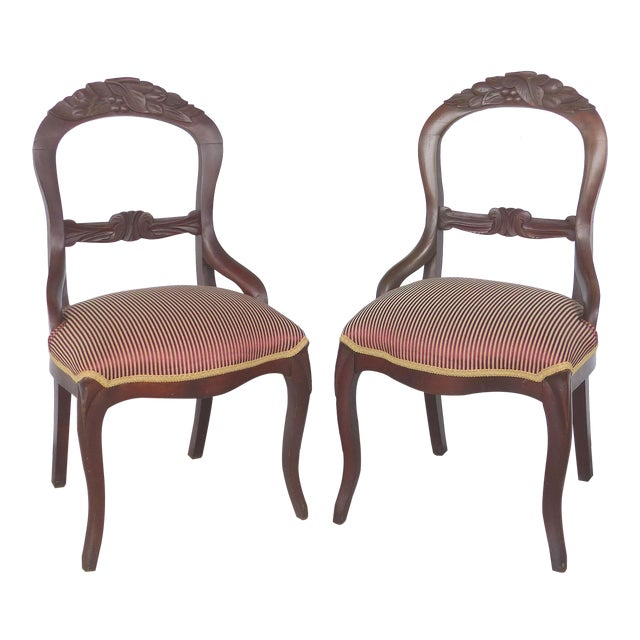 Balloon Back Dining Chairs-A Pair For Sale