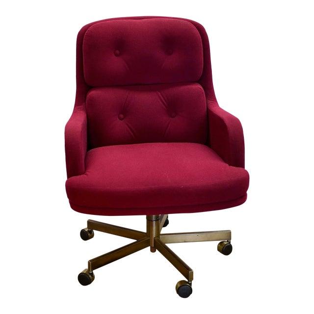 Phenomenal 1960S Mid Century Modern Burgundy Desk Chair Machost Co Dining Chair Design Ideas Machostcouk