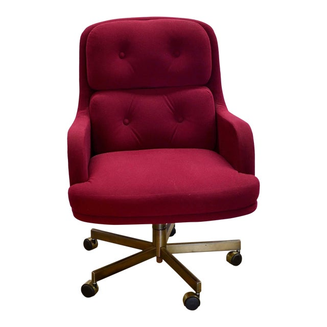 Cool 1960S Mid Century Modern Burgundy Desk Chair Theyellowbook Wood Chair Design Ideas Theyellowbookinfo