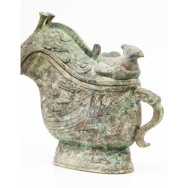 2010s Lawrence & Scott Large Verdigris Bronze Snail Box For Sale - Image 5 of 10