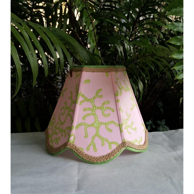 Lampshade Pink Green Tropical Lilly Pulitzer Fabric For Sale - Image 11 of 11