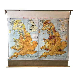 1967 School Map of England For Sale