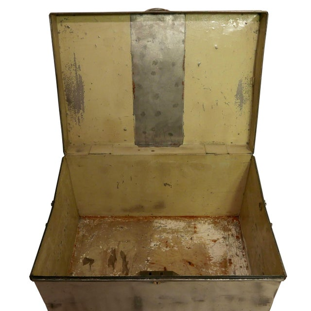 19th Century Polished Steel Trunk on Stand For Sale - Image 11 of 12