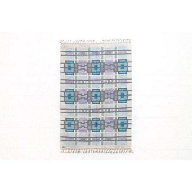 Scandinavian Modern Judith Johansson Tapestry Rug - 4'5'' X 6'8'' For Sale - Image 11 of 11