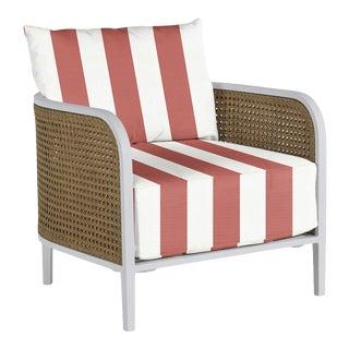 Havana Lounge Chair in Bistro Stripe Flamingo