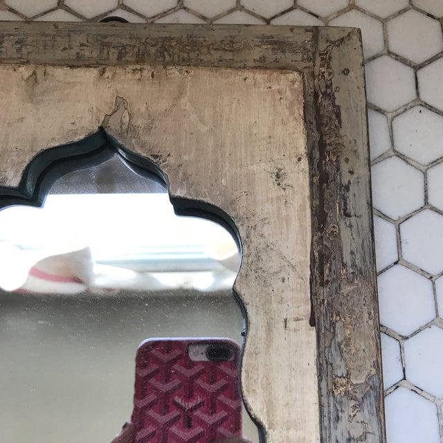 Vintage Indian Archway Painted Teak Mirror - Image 11 of 11