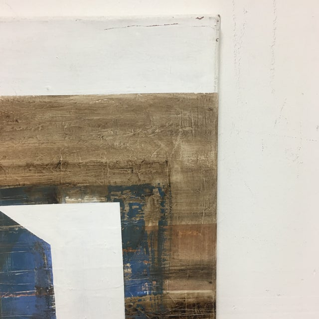 Blue Claudio Feldman Original Oil on Canvas Painting For Sale - Image 8 of 10