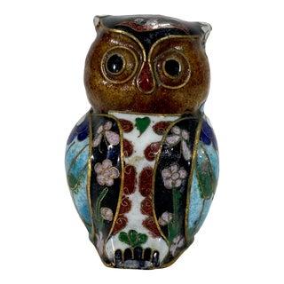 Cloisonné Owl Figurine For Sale