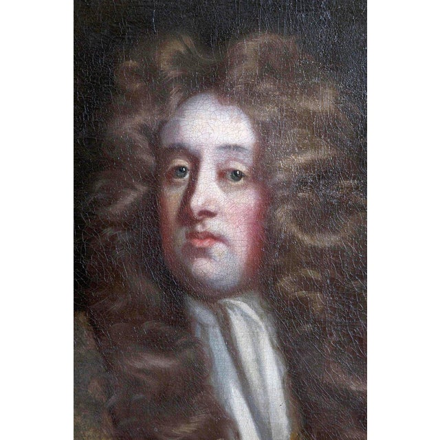 18th Century Oil on Canvas Portrait of an English Gentleman For Sale In Dallas - Image 6 of 13