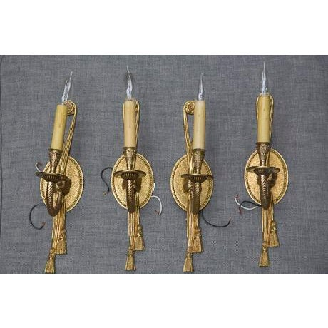 Rope & Tassel Wall Sconces - Set of 4 - Image 2 of 4